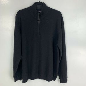 JWN 1/2 Zip Pullover 100% Cashmere Sweater